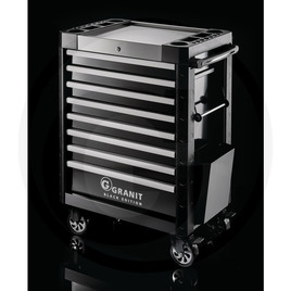 GRANIT BLACK EDITION Dynamic workshop trolley, with tools, 197 pcs.