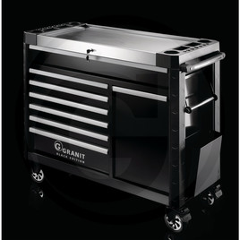 GRANIT BLACK EDITION Performance workshop trolley, with tools, 216 pcs.